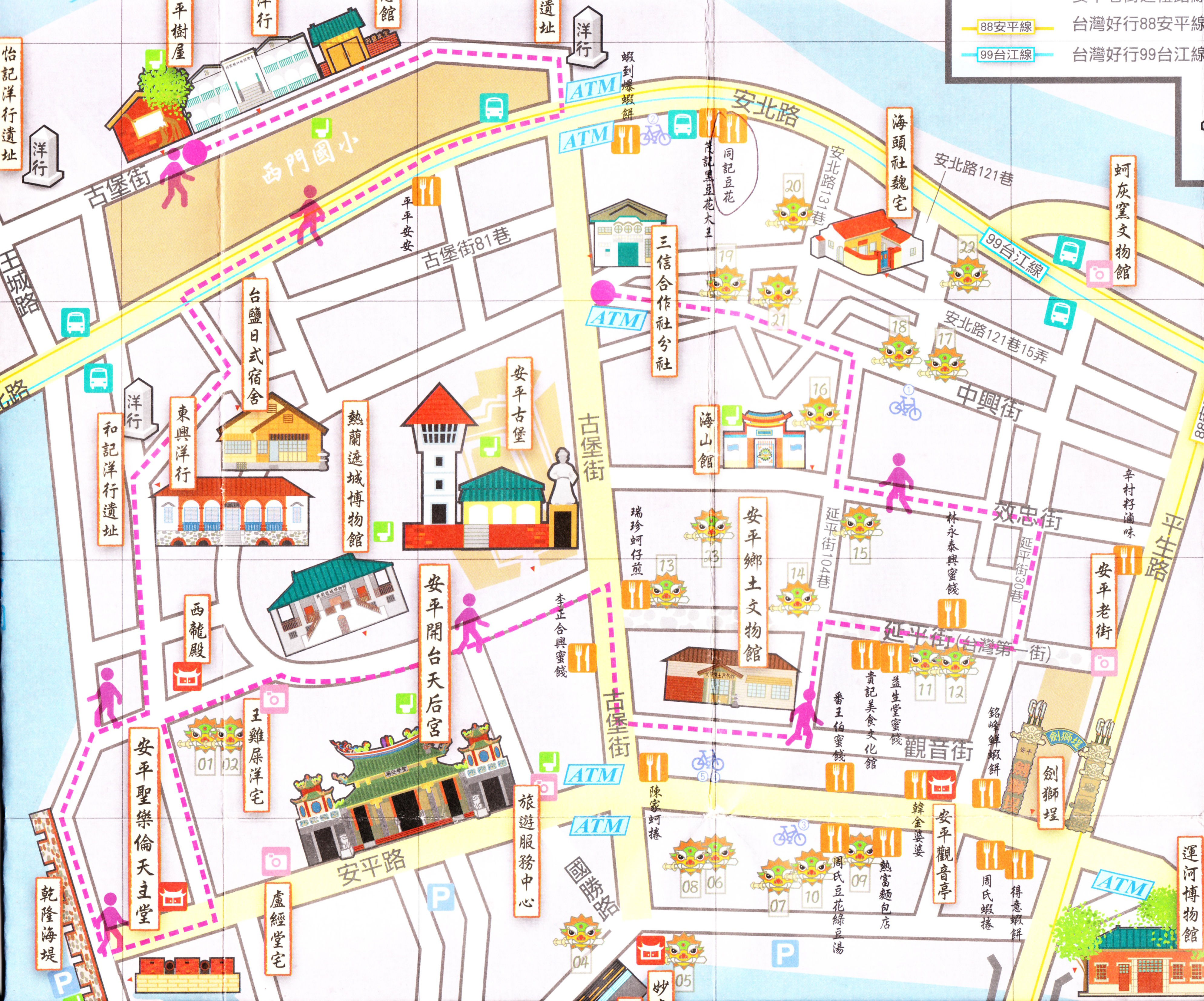 Round island taiwan itinerary part ii south kenting kaohsiung anping map sciox Choice Image