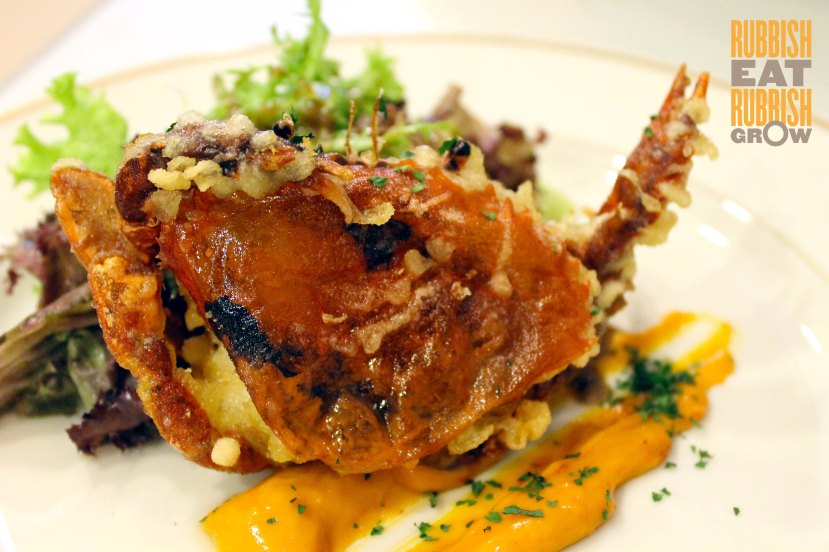soft shell crab with curry mayo