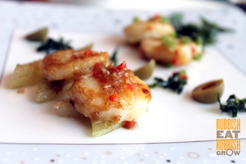 scallops in teochew and cantonese style