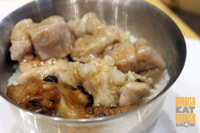 rice with chicken feet & pork rib 凤爪排骨饭