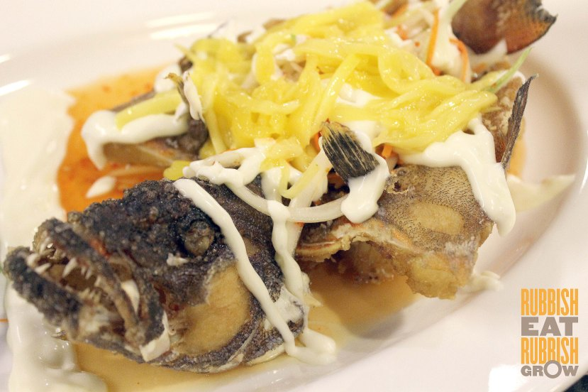 tien garden deep-fried garoupa with thai dressing