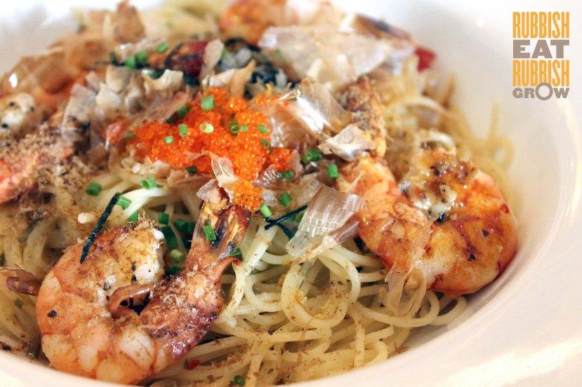 jewel cafe - umami prawn capellini