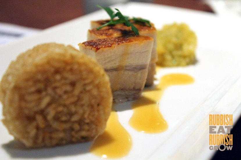 Recipes Restaurant - slow-cooked pork belly with apple salsa