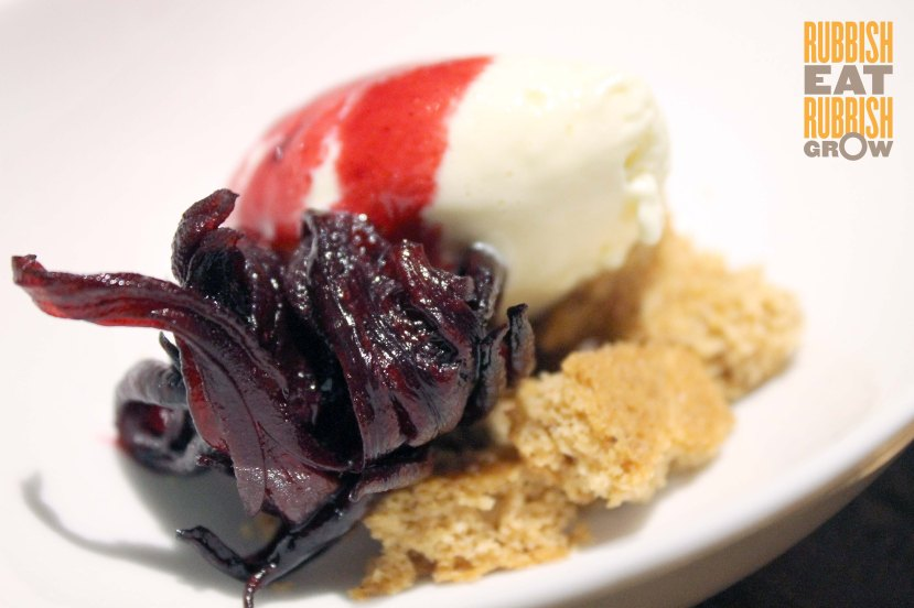 Burnt Ends Singapore - wild hibiscus, smoked ice cream and ginger