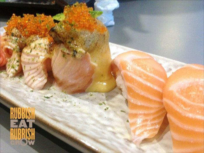 Koh Sushi - sake aburi and sake sushi