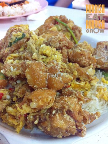 salted egg yolked sotong