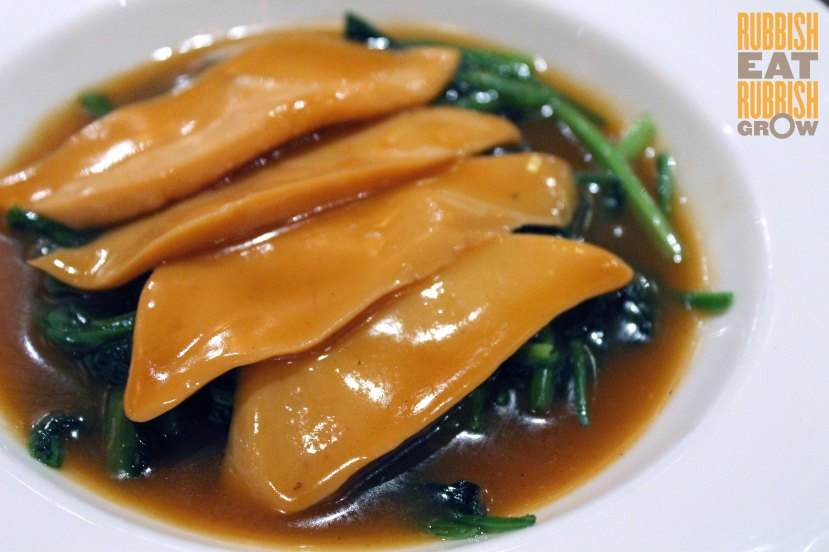 Ah Hoi Kitchen Singapore - Braised Jade Abalone with spinach