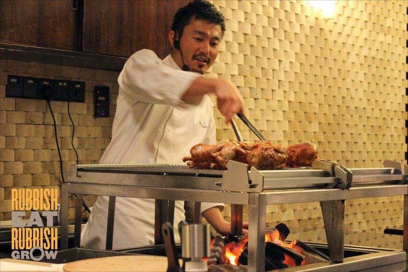 Hide Yamamoto Marina Bay Sands - Chef Sho Naganuma at Work