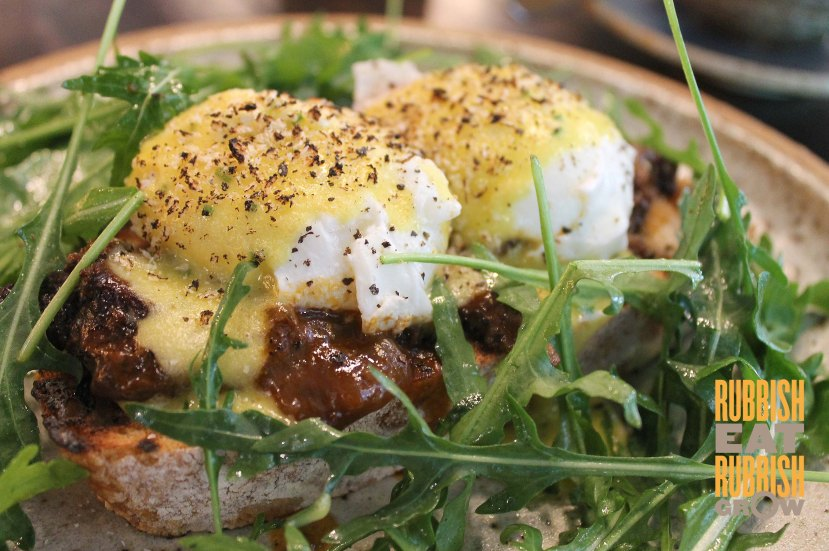 Common Man Coffee Roasters Menu - Organic Eggs Benedict