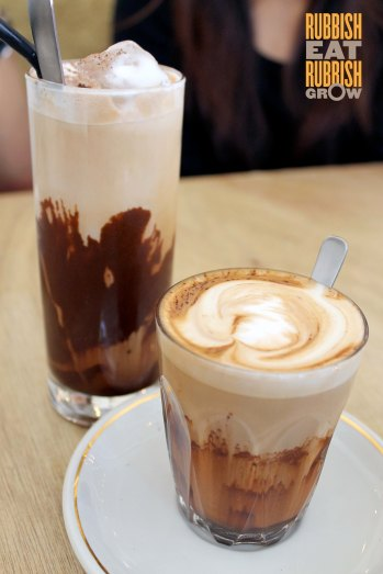 The Bravery Cafe Little India - Ice and hot mocha