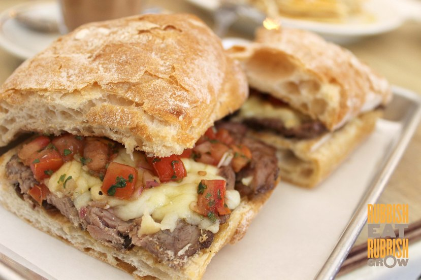 The Bravery Cafe Little India - beef steak ciabatta