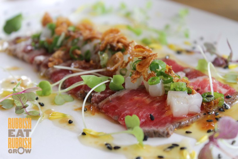 Ku De Ta Marina Bay Sands - seared black angus beef tataki