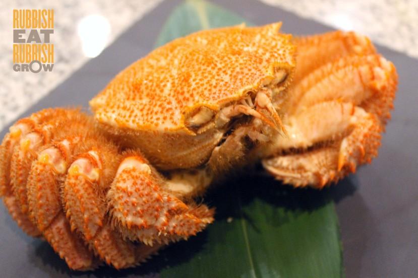 me@oue set lunch - Hokkaido hairy crab