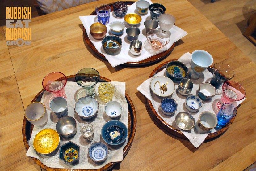 ezoca - sake cups