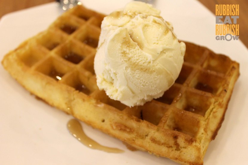 craft bakery cafe menu - waffles