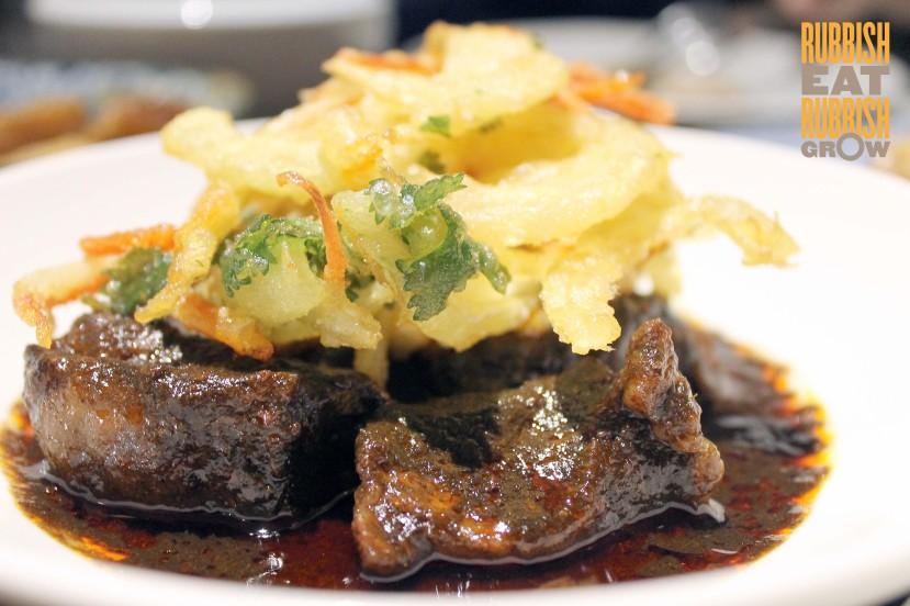 Candlenut Kitchen Menu - buah keluak wagyu beef rib