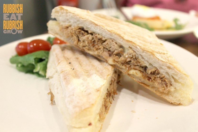 Flock Cafe review - pulled pork gruyere sandwich