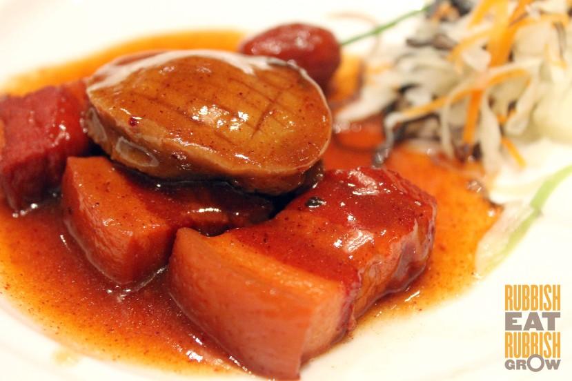 Shang Palace Singapore - Braised abalone pork belly