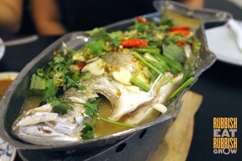 Siam Society Jalan Riang - steamed seabass