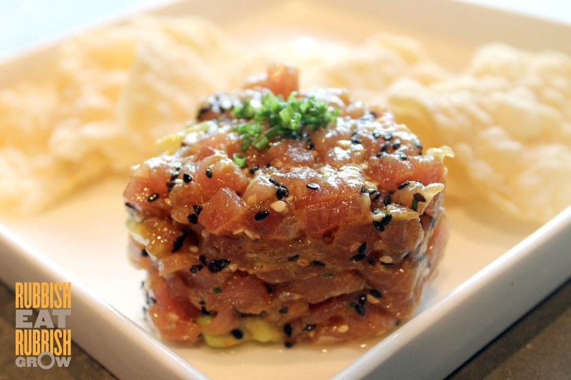 Kilo at Pact Orchard -  avocado-wasabi tuna tartare