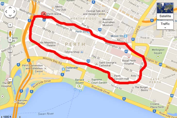 Perth       also Cat Bus Perth Map on red route map perth cat 4kUqF4Jg