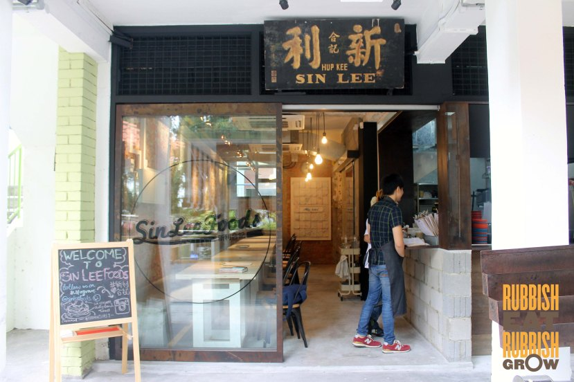 Sin Lee Foods Cafe Tiong Bahru Menu