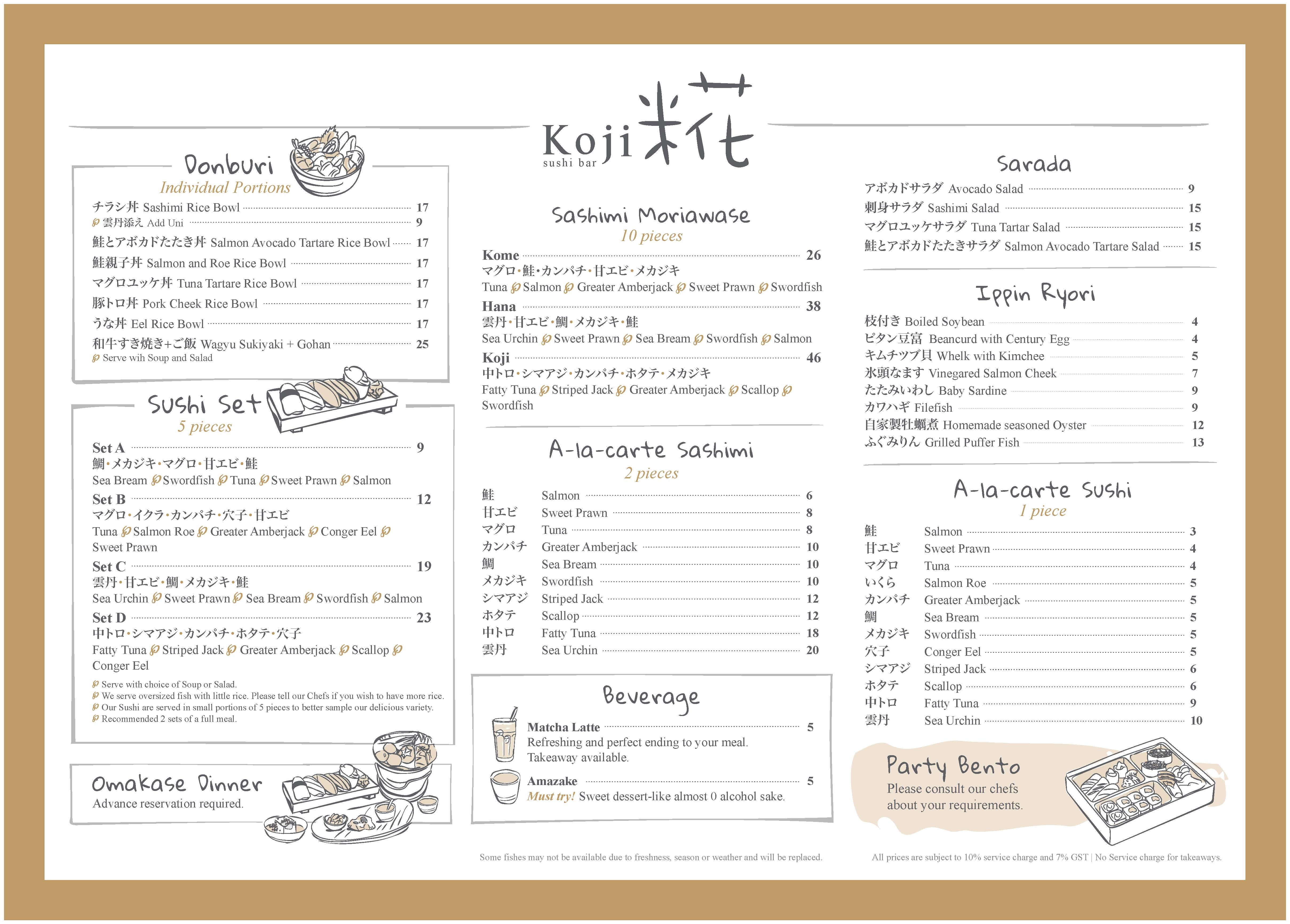 Cafe Melba Menu