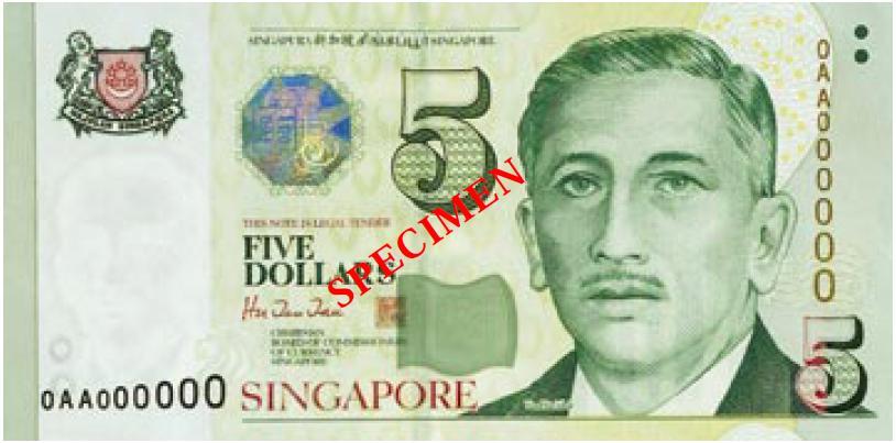 $5 Singapore bill