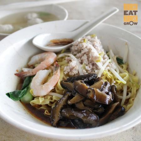 Noi's mushroom minced meat noodle