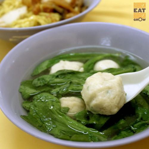 teochew st mushroom minced meat noodle